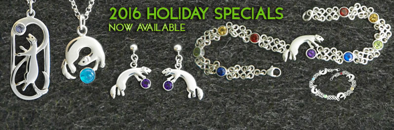 Special items for the 2016 holidays, including two new ferret bracelets.