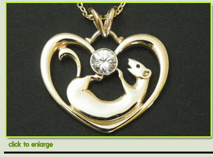 Gold Ferret Pendant