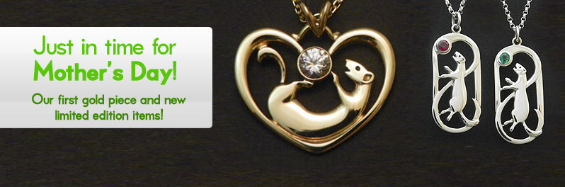 Special items for Mother's Day, including our first gold necklace.